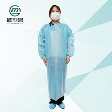 厂家现货PP+PE无纺布一次性反穿隔离衣 防水防尘一次性使用