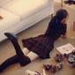 2016秋季新款韩版女装格子修身连衣裙子女甜美学院风经典格子短裙
