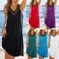 ebay速卖通爆款2018欧美夏季V领烫钻褶皱沙滩裙连衣裙 优质现货