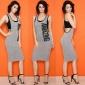 S3026外贸热卖欧美女装性感时尚胶印无袖连衣裙现货销售一件代发1
